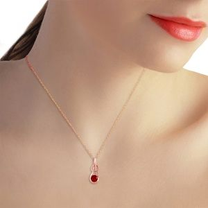 Galaxy Gold Products Jewelry - 14K. SOLID GOLD NECKLACE WITH RUBY